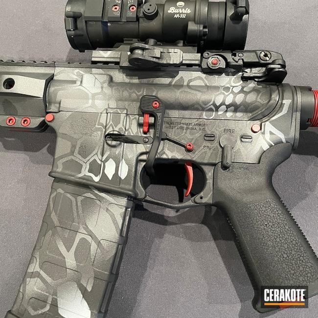 Cerakoted: S.H.O.T,Kryptek,Graphite Black H-146,AR,FROST H-312,Crimson H-221,.223,Tactical Grey H-227,AR Rifle,Cobalt H-112