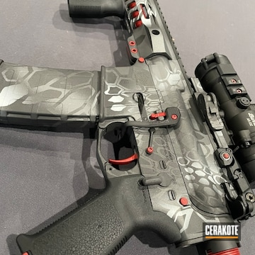 Kryptek Camo Ar Build Cerakoted Using Crimson, Frost And Tactical Grey