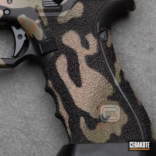 Cerakoted: S.H.O.T,9mm,Mud Brown H-225,Graphite Black H-146,Desert Sand H-199,G34,Glock,Noveske Bazooka Green H-189,Handgun