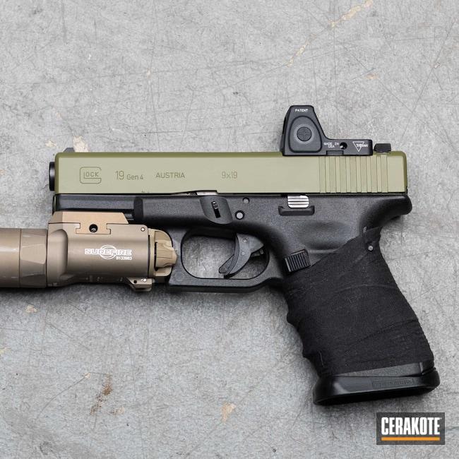 Cerakoted: S.H.O.T,Glock 19,9mm,Custom,black flag armory,Glock,Southern Oregon,Noveske Bazooka Green H-189,Medford