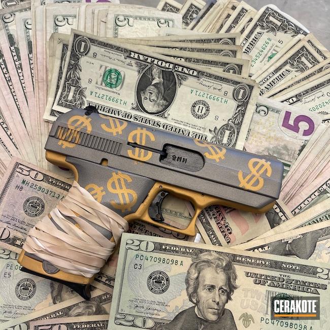 Cerakoted: S.H.O.T,9mm,Shimmer Aluminum H-158,Hi-Point,Ghetto,Gold H-122