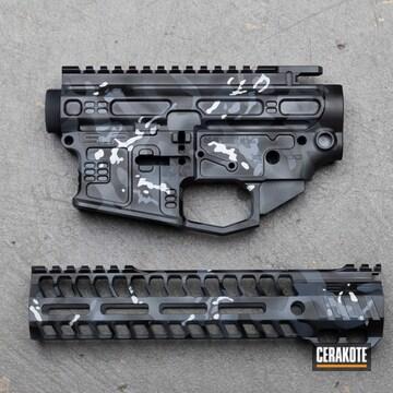Custom Camo Ar Builders Set Cerakoted Using Multicam® Dark Grey, Sniper Grey And Battleship Grey