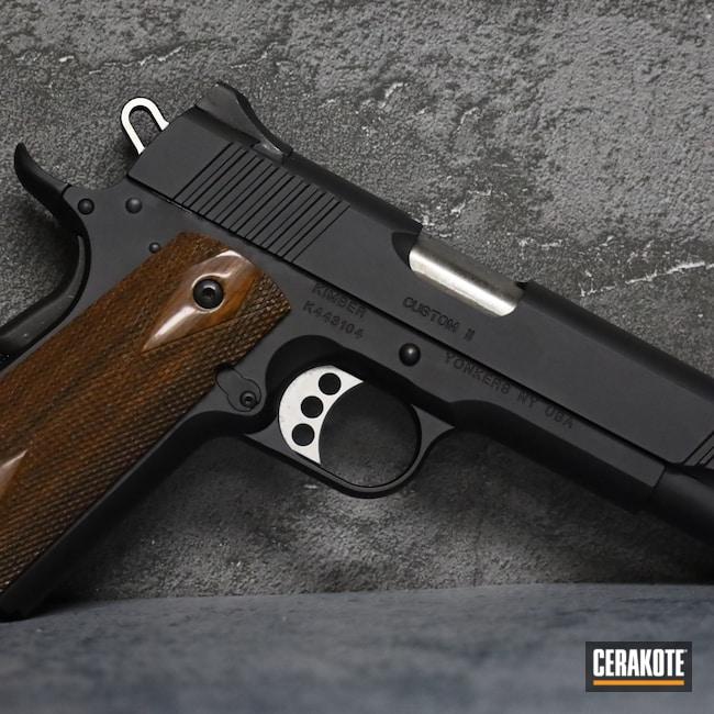 Cerakoted: S.H.O.T,.45,Graphite Black H-146,Kimber,Pistol,1911,Handgun