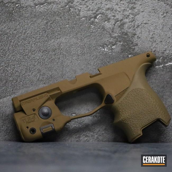 Cerakoted: S.H.O.T,9mm,Frame,p365,BARRETT® BROWN H-269,Pistol,Sig,Handgun