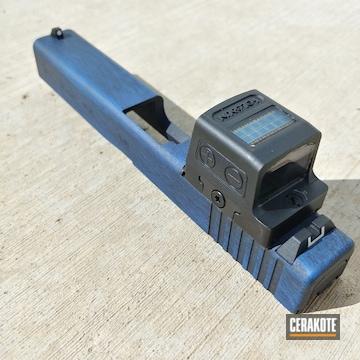 Distressed Glock 17 Slide Cerakoted Using Nra Blue And Graphite Black