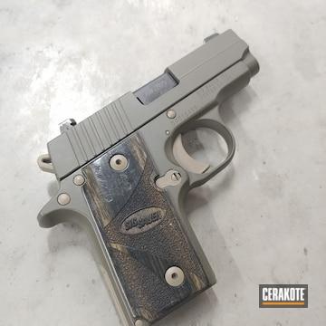 Sig P238 Pistol Cerakoted Using O.d. Green And Magpul® Flat Dark Earth