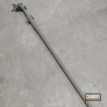Rifle Barrel Cerakoted Using Hazel Green