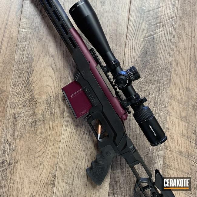 Cerakoted: S.H.O.T,Rifle,MDT,Custom,Graphite Black H-146,BLACK CHERRY H-319,Savage