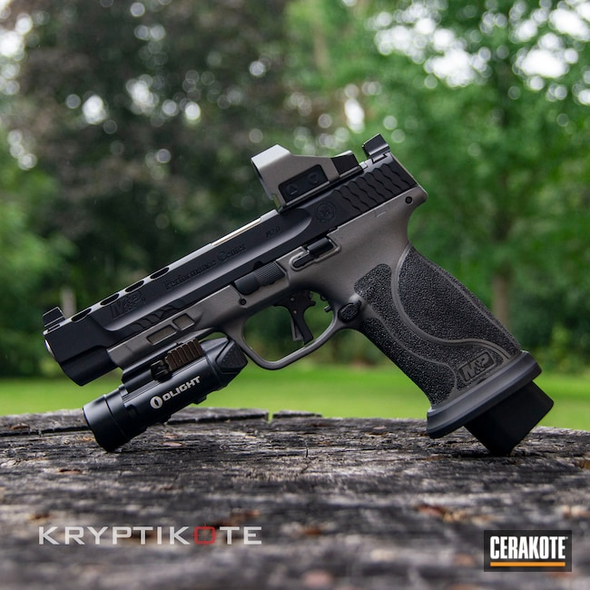 Cerakoted: S.H.O.T,M&P,Graphite Black H-146,Smith & Wesson,Tactical Grey H-227