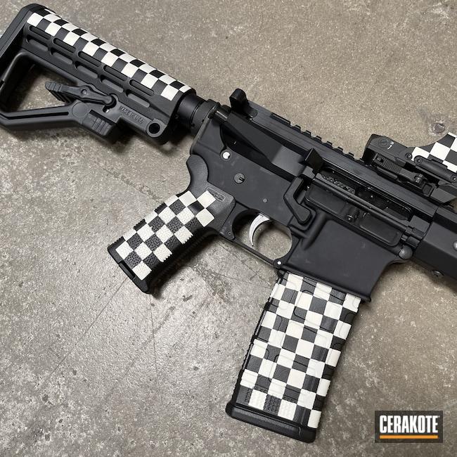 Cerakoted: S.H.O.T,Snow White H-136,Graphite Black H-146,.223,AR Build,AR-15