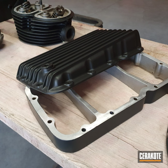 Cerakoted: BMW,Automotive,Engine Block,CERAKOTE GLACIER BLACK C-7600,Motorcycle