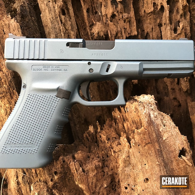 Cerakoted: S.H.O.T,Glock 21,Glock,Glock Gen 4,Blue Titanium H-185