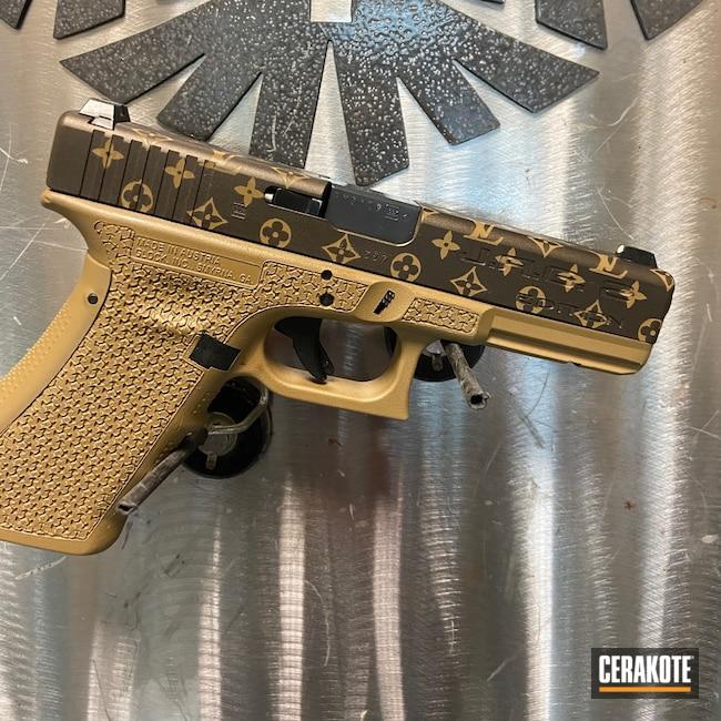 Cerakoted: S.H.O.T,Custom Glock,Glock,Louis Vuitton,Midnight Bronze H-294