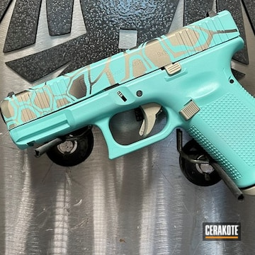 Kryptek Camo Glock Cerakoted Using Savage® Stainless, Graphite Black And Robin's Egg Blue
