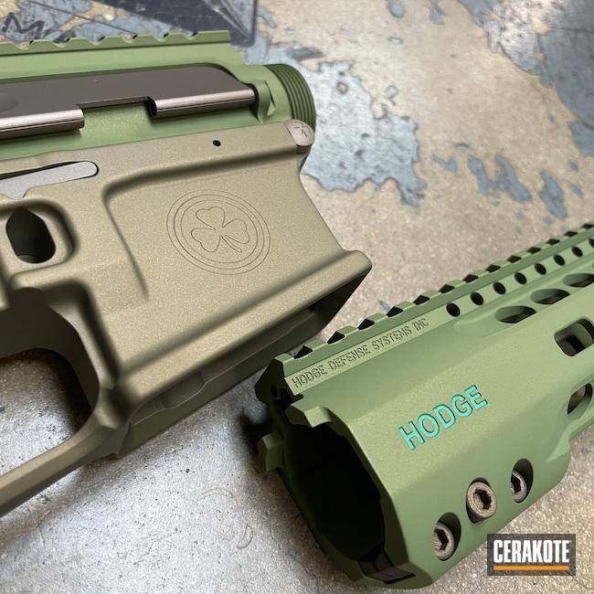 Cerakoted: Hodge Defense,S.H.O.T,Sand E-150,Radian Weapons,M17 COYOTE TAN E-170,Hodgeflauge,Upper / Lower / Handguard,Multi,.223,SQUATCH GREEN H-316,5.56,Gold H-122,Mod 2,Titanium E-250,HDSI,Forest Green H-248,Buffer Tube,AR-15