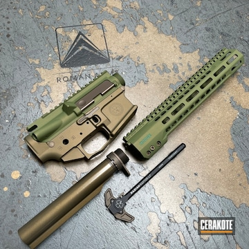 Ar Build Cerakoted Using Squatch Green, Titanium And Forest Green