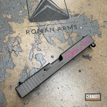 Custom Glock 22 Slide Cerakoted Using Sig™ Pink And Tungsten