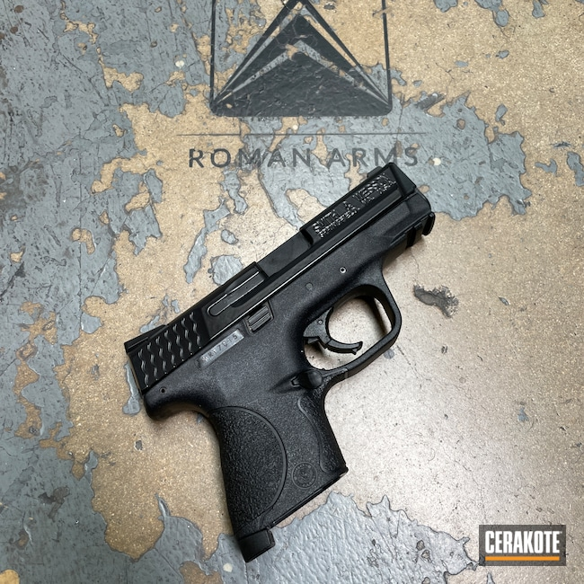 Cerakoted: S.H.O.T,M&P,BLACKOUT E-100,EDC Pistol,Restoration,Smith & Wesson M&P,Pistol,Refinished,EDC,Rust,Handgun,9mm,Smith & Wesson,Handguns