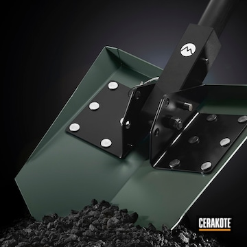 Dmos Collective Custom Shovels Cerakoted Using Jungle, Concrete And Blackout