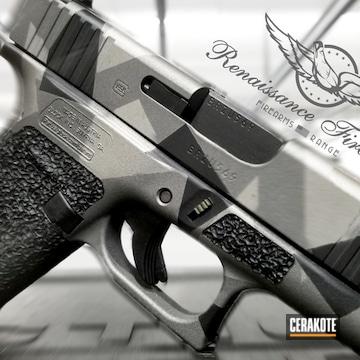 Splinter Camo Cerakoted Using Stainless, Graphite Black And Tungsten
