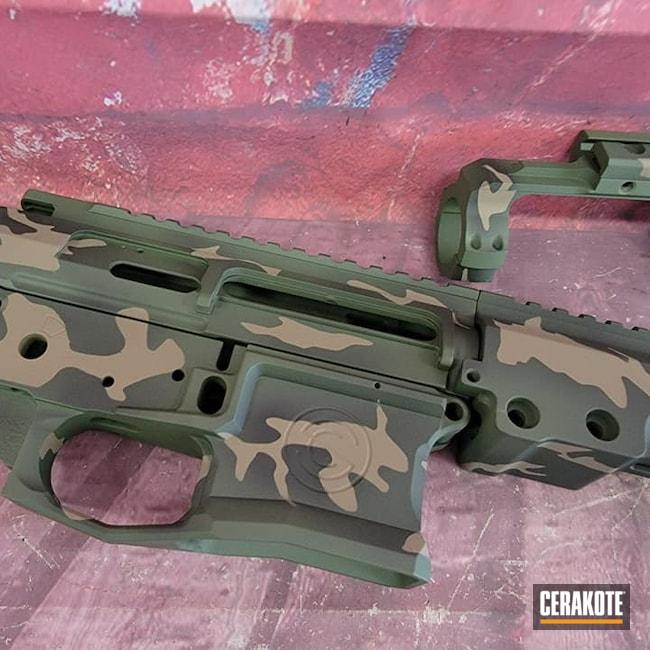Cerakoted: S.H.O.T,Highland Green H-200,MAGPUL® FLAT DARK EARTH H-267,Graphite Black H-146,AR Project,AR Parts,Custom Camo,AR Build