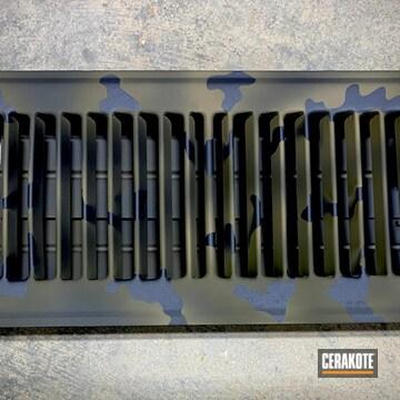 Custom Camo Air Vent Cerakoted Using Sniper Green, Sniper Grey And Coyote Tan