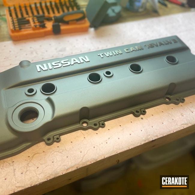 Cerakoted: Titanium E-250,Nissan,Valve Cover,Automotive