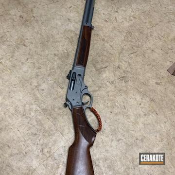 Lever Action Shotgun Cerakoted Using Tactical Grey