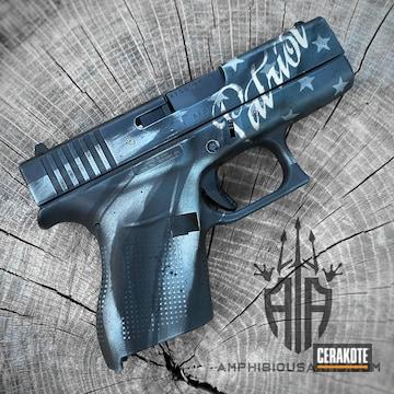 Distressed Glock 43 Cerakoted Using Graphite Black And Jesse James Cold War Grey