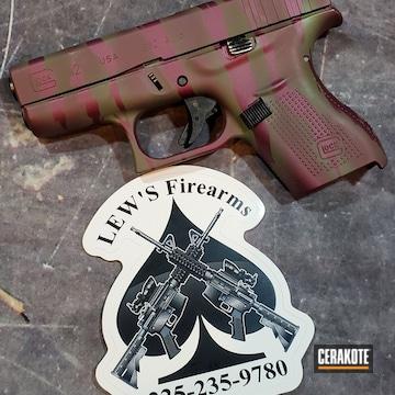 Glock 42 Cerakoted Using Black Cherry And Multicam® Dark Green