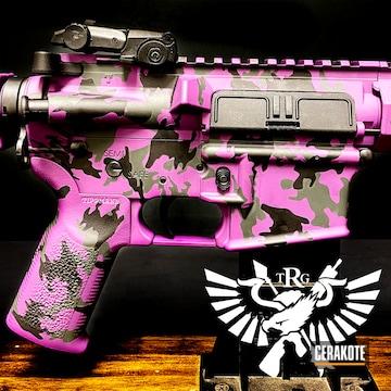 Custom Camo Ar Cerakoted Using Armor Black, Sniper Grey And Bright Purple