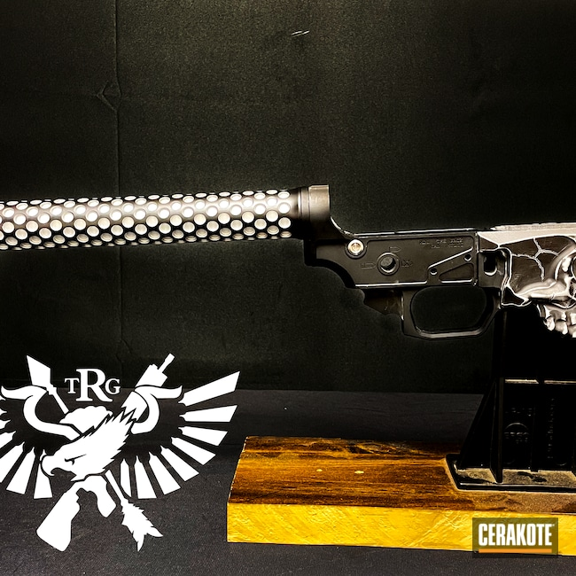 Cerakoted: S.H.O.T,Lower,Crushed Silver H-255,Armor Black H-190,Custom Lower