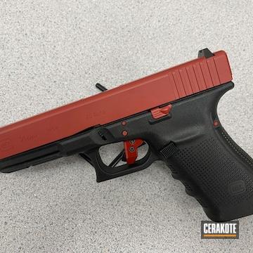 Glock 21 Cerakoted Using Firehouse Red