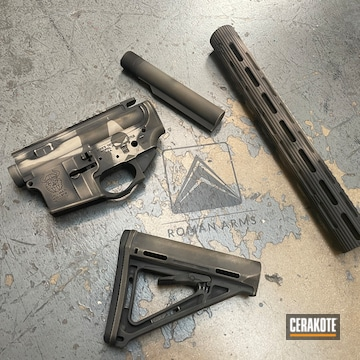 Distressed Ar Cerakoted Using Coyote Tan, Graphite Black And Magpul® Fde