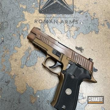 Sig P226 Pistol Cerakoted Using Vortex® Bronze, Midnight Bronze And Crushed Silver