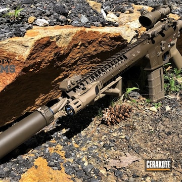 Ar, Knife And Pistol Cerakoted Using Kel-tec® Navy Blue, Patriot Brown And Magpul® Flat Dark Earth
