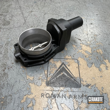 Throttle Body Cerakoted Using Cerakote Glacier Black
