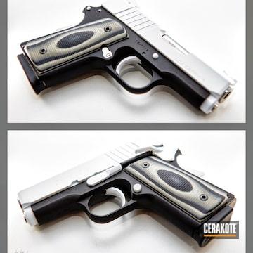 Para Ordnance Pistols Cerakoted Using Armor Black, Stormtrooper White And Black Cherry