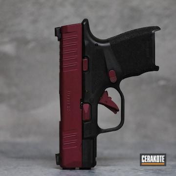 Springfield Armory Hellcat Pistol Cerakoted Using Black Cherry