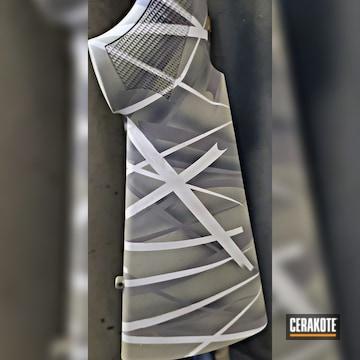 Benelli Sbe Shotgun Cerakoted Using Gen Ii Desert Sage, Multicam® Pale Green And Chocolate Brown