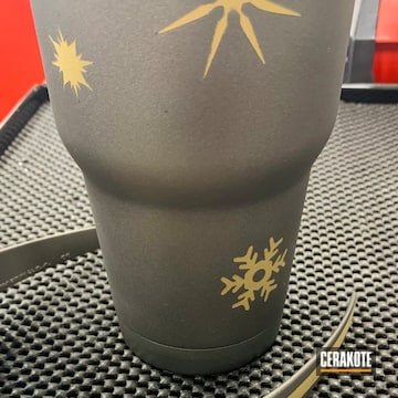 Tumbler Cerakoted Using Stainless, Graphite Black And Burnt Bronze