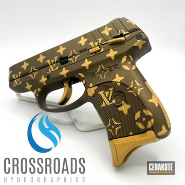 Louis Vuitton Ruger Pistol Cerakoted Using Burnt Bronze And Gold
