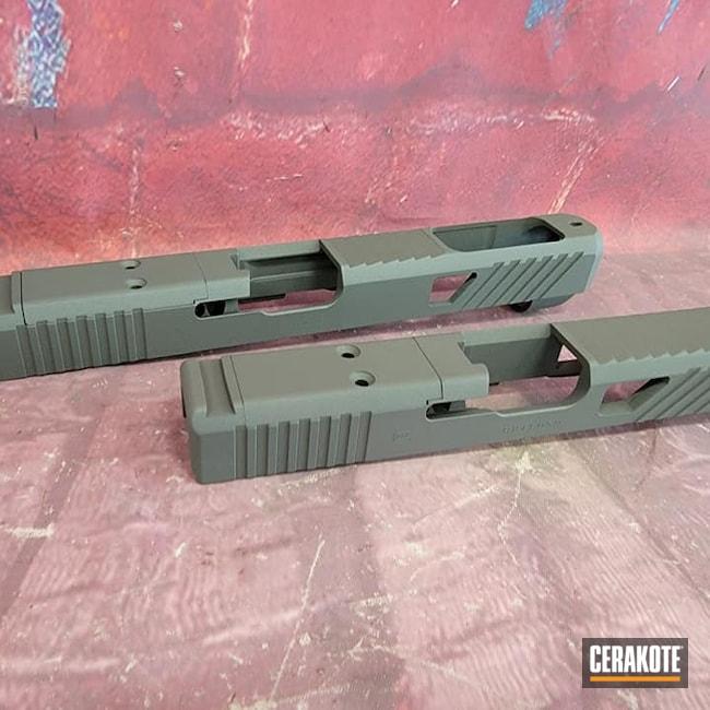 Cerakoted: S.H.O.T,Glock Slide,Glock,Gun Parts,Custom Slide,PLATINUM GREY H-337,Pistol Slide,Slide