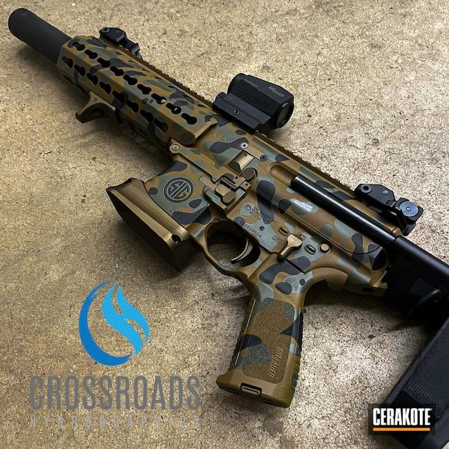 Custom Camo Ar Cerakoted Using Noveske Bazooka Green, Fs Field Drab And Graphite Black