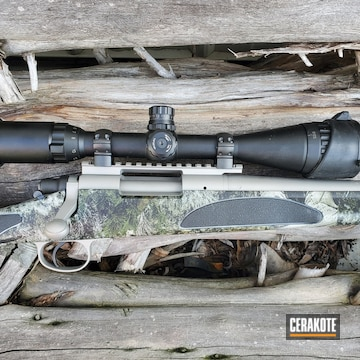 Remington 700 Rifle Cerakoted Using Stainless And Matte Ceramic Clear