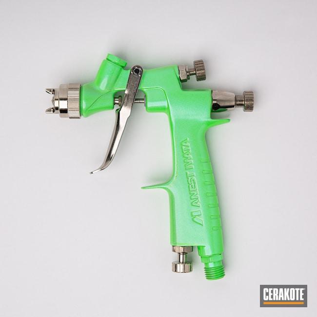 Cerakoted: Cerakote FX,Glitter,Cerakote FX MYSTIQUE FX-105,PARAKEET GREEN H-331,Spray Gun,FX