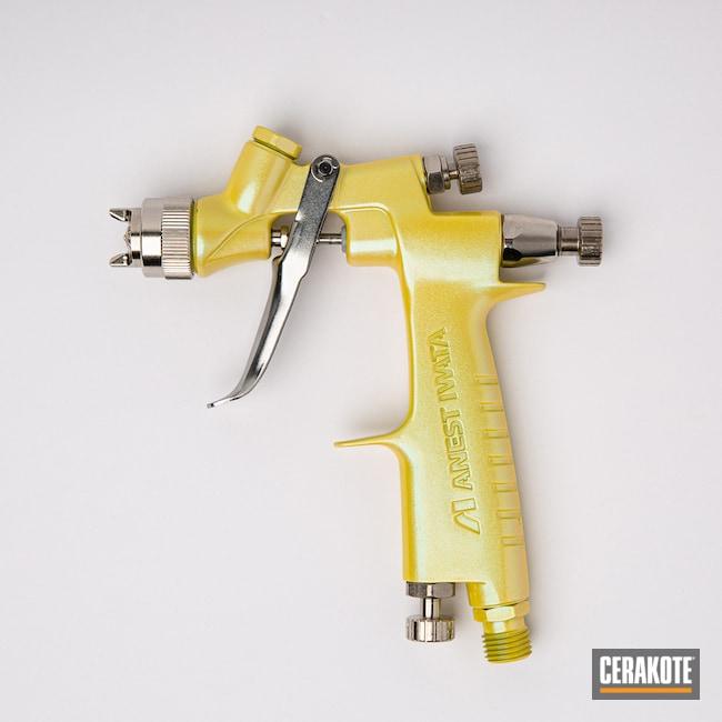 Iwata Spray Paint Gun Cerakoted Using Lemon Zest And Cerakote Fx Typhoon