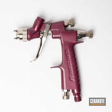 Iwata Spray Paint Gun Cerakoted Using Cerakote Fx Cosmic And Black Cherry