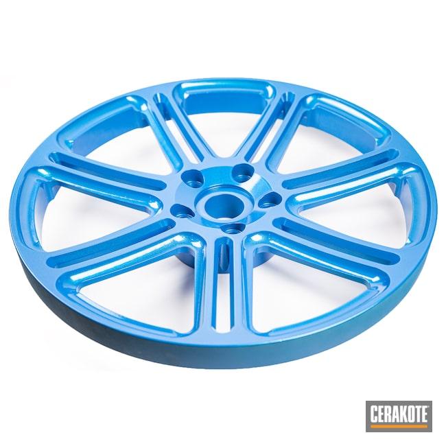 Cerakoted: Cerakote FX,Rims,Glitter,Cerakote FX TYPHOON FX-109,Automotive,Wheels,Sky Blue H-169,FX