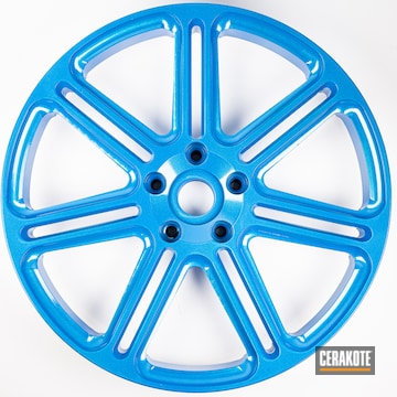 Wheels Cerakoted Using Sky Blue And Cerakote Fx Typhoon